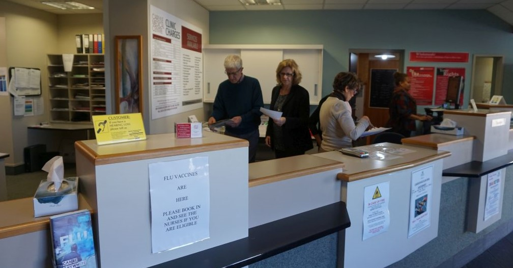 Carlyle Medical Centre reception 2